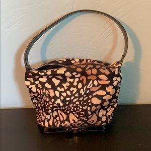 Adorable black & tan mini Ferragamo purse!